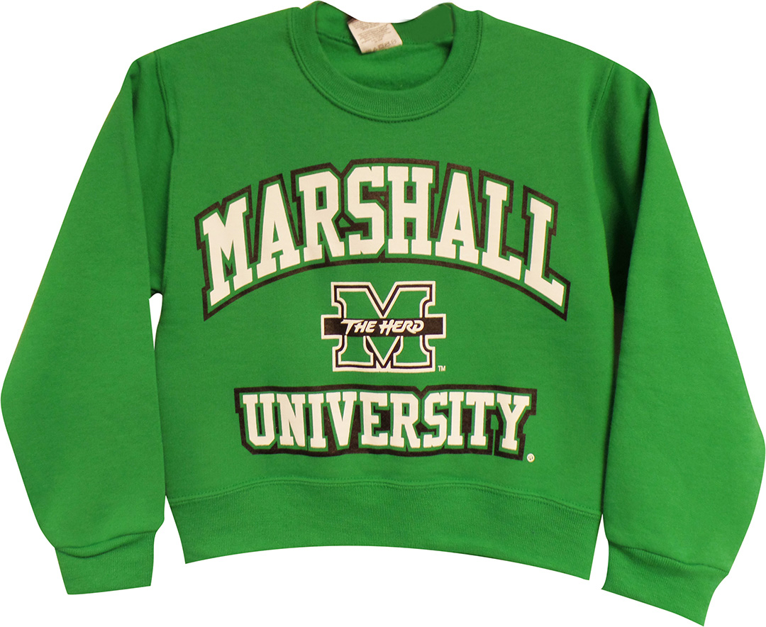MU Arched 2015 Green <br> Youth Sizes <br> Jerzeez Crew $23.99 <br>Available in Hoodie $28.99