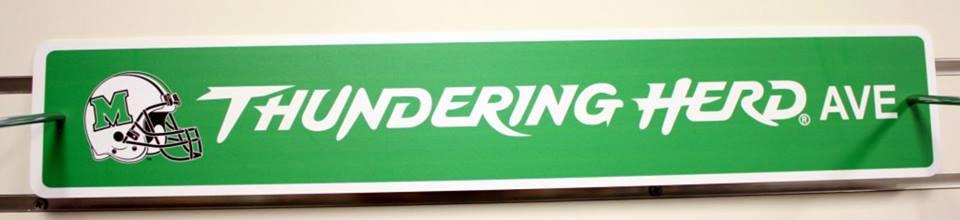 10940 <br>MU Thundering Herd Street Sign <br> $6.99