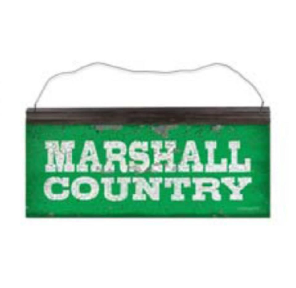 11235 <br>Marshall Country Tin Sign <br> $9.99