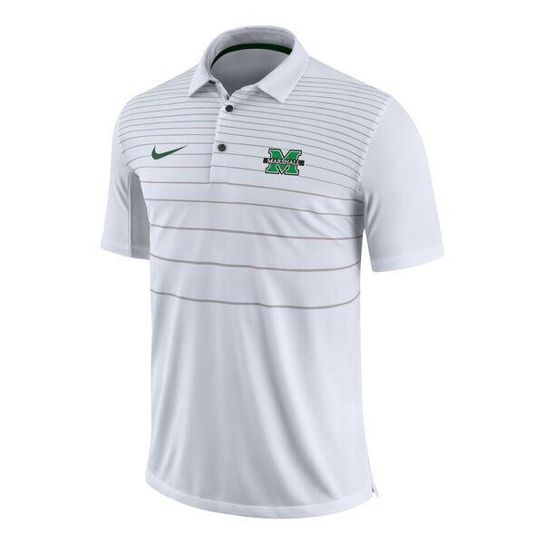 26320 <BR>MU Striped Polo, WHITE <BR>$75.00