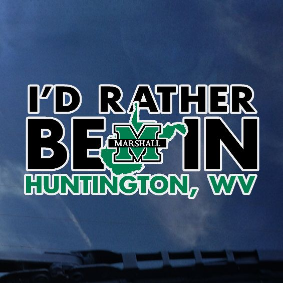 I'd Rather be in Huntington window decal <br>  25675 <br>   $4.99