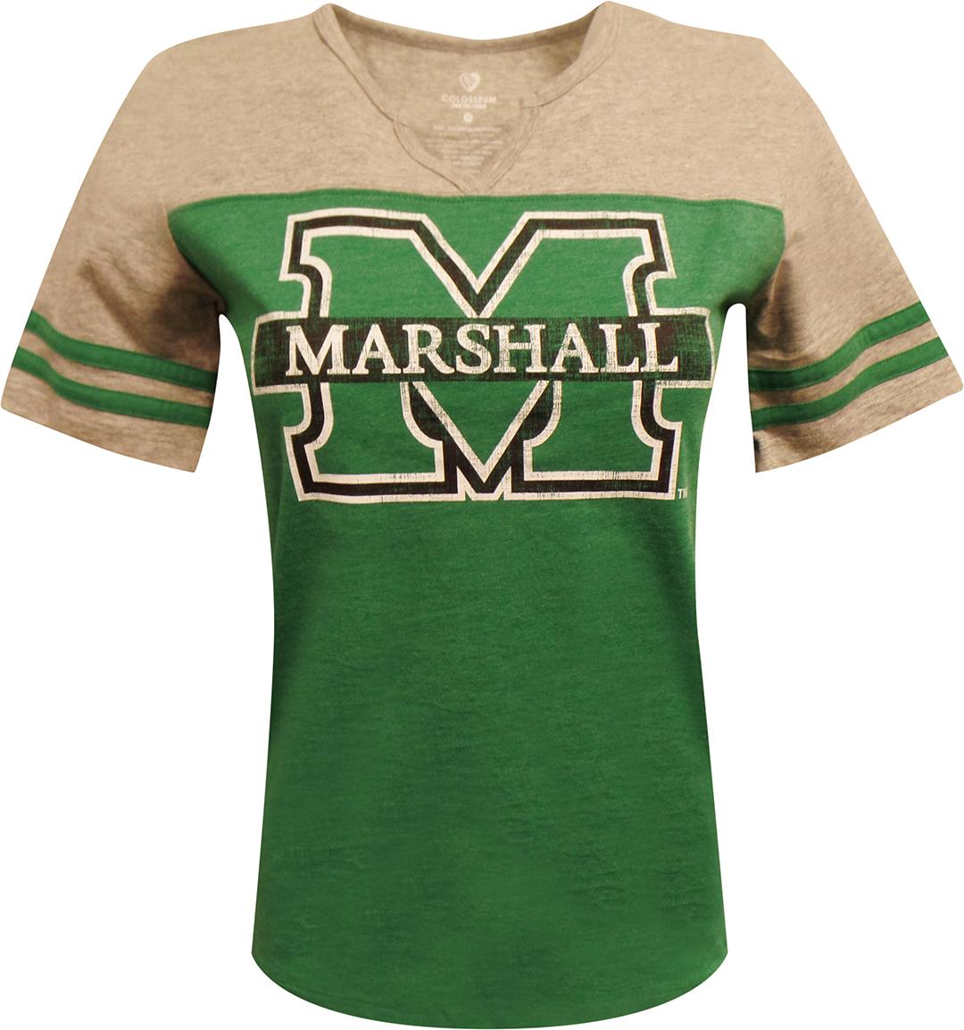 """25805 <br> Marshall Tee <br> <DEL> Reg. $32.00 </DEL> <BR> <FONT COLOR=""""RED""""> SALE $24.99 </FONT>"""