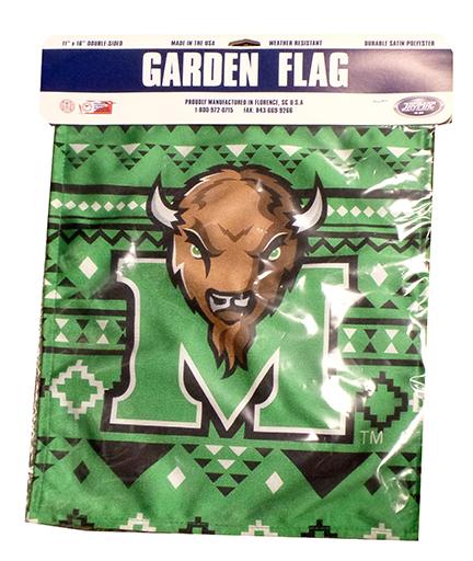 """MU """"Axtec"""" Garden Flag <br> 18375 <br> $12.99"""