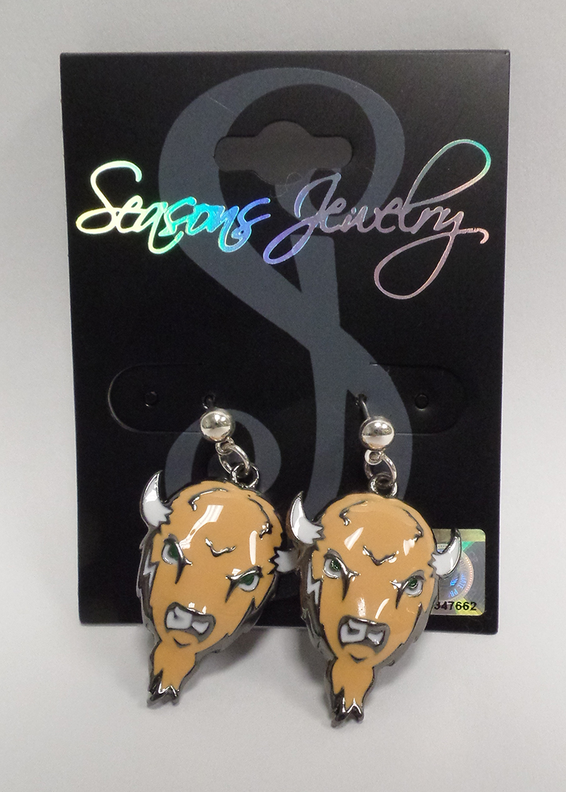 MU SJ Enamel Buffalo Earrings <br> 19660 <br> $14.99