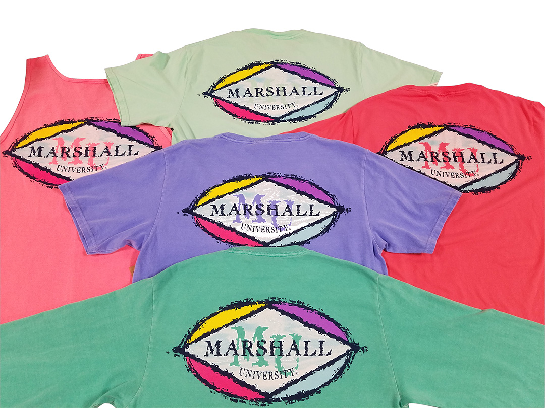 MU Bright Colored Tees <br>Short Sleeves only <br>in colors shown. <BR>$24.99