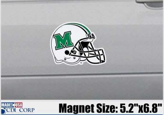 MU HELMET + FOOTBALL MAGNET <BR>$9.99